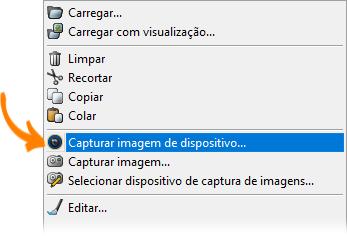 Adicionar foto de perfil pelo Capture