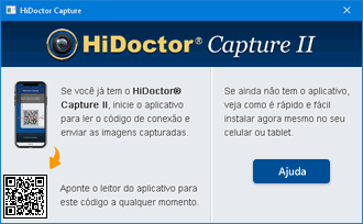 QR Code para conexão do Capture