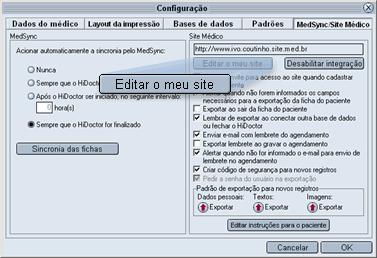 Editar o meu site