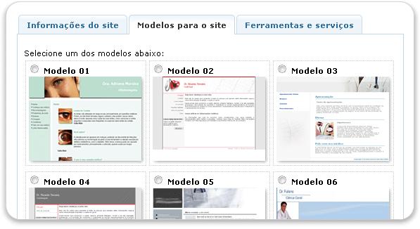 Modelos para o site