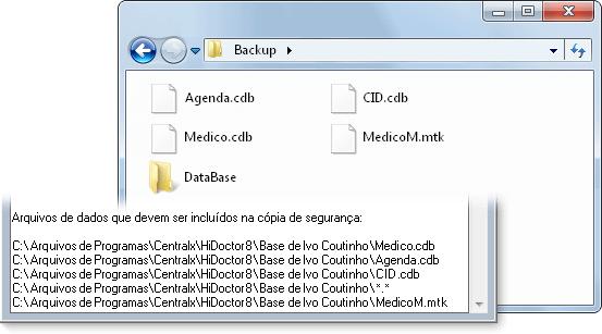 Restaurar arquivos de dados