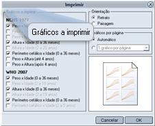 Selecionar gráficos para imprimir