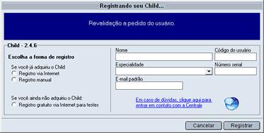 Registrar o Child