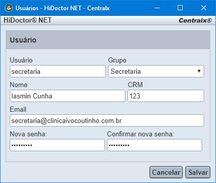 Criar novo usuário no HiDoctor NET