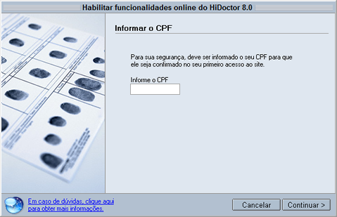 Informar cpf