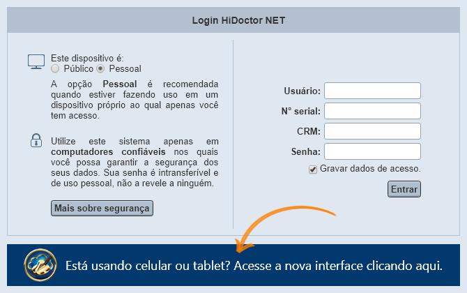 Acessar HiDoctor® NET pelo celular
