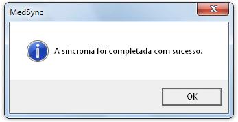 Sincronia completada com sucesso