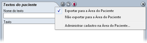 Exportar dados do paciente